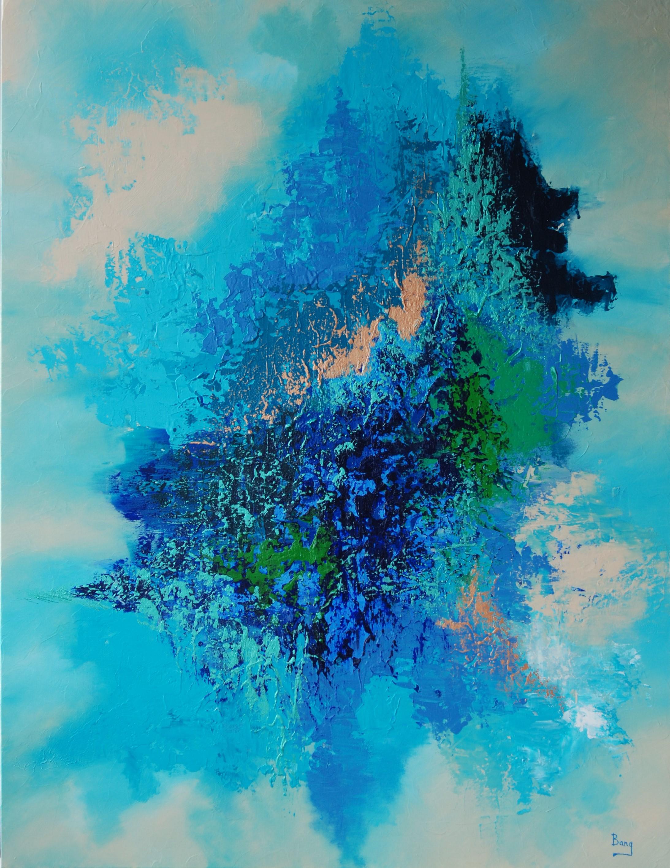 Blå Nuancer 116x89cm